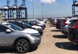 Bạt ngàn ô tô xếp hàng chờ thông quan trước Tết