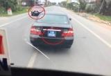 Xe ô tô biển xanh 'làm xiếc' trên đường là của Ban tổ chức tỉnh ủy Nam Định