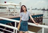 Hoa hậu Tường Linh gây thương nhớ khi diện thiết kế chấm bi