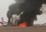 Máy bay chở 45 người nổ tung khi hạ cánh tại Nam Sudan