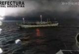 Tàu Argentina nổ súng, rượt đuổi theo tàu cá Trung Quốc đánh bắt trái phép