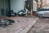 Clip xe Camry gây tai nạn trên phố Ái Mộ khiến 3 người chết