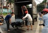 Hà Giang: Xe máy Dream bất ngờ bốc cháy khi đang lưu thông