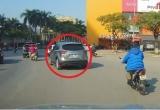 Clip: Rượt đuổi ô tô, gây tai nạn giao thông bỏ chạy