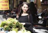 Hoa hậu Sương Đặng vai trần gợi cảm đi chợ mua... mắm tép
