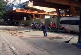 Dự án đường sắt Nhổn - Ga Hà Nội: Họp kiểm điểm nhà thầu làm rơi thanh sắt dài 3m xuống đường