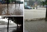 Clip Thái Nguyên chìm trong biển nước sau 3 tiếng mưa