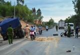 Quảng Ngãi: Đâm phải xe tải chở cát đi ngược chiều, 1 người tử vong