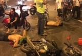 Hà Nội: Hai thanh niên say rượu lái xe máy đâm vào cô gái đang mang bầu