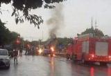 Thực hư xe tải bị sét đánh cháy ngùn ngụt ở Hưng Yên