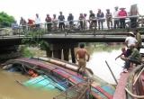 Nam Định:  Tàu cá trôi khỏi bến neo đậu, lật úp trên sông Cồn Nhất