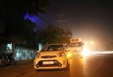 Bình Dương: Xe tải húc văng taxi đang dừng chờ đèn đỏ, 3 người may mắn thoát nạn