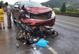 Lâm Đồng: Ôtô tông trực diện xe máy trên đường cao tốc Liên Khương – Đà Lạt