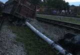 Tàu hỏa lại trật bánh khỏi đường ray ở Nghệ An, toa tàu lật nghiêng