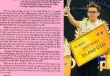 Quảng Ninh: Thí sinh vô địch Đường lên đỉnh Olympia nhận Điện khen từ Chủ tịch UBND tỉnh
