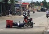 Bình Dương: Hai xe máy va chạm, 1 người bị thương