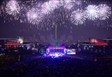 Clip màn bắn pháo hoa rực rỡ tại thủ đô Bình Nhưỡng