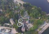 Cảnh hoang tàn bên trong công viên hoành tráng giữa Thủ đô
