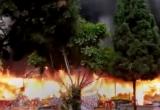 Lạng Sơn: Đền Mẫu Đồng Đăng bốc cháy dữ dội sáng mồng 5 tết