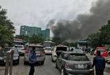 Hà Nội: Cháy lớn tại 1 gara ô tô gần trụ sở VFF