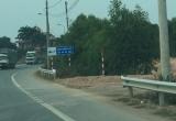 UBND huyện Lạng Giang yêu cầu lắp lại hộ lan trên QL1