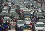 Hà Nội: Nhiều tuyến đường 'nghẹt thở' trong mưa phùn