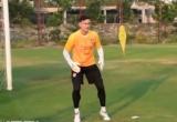 Thủ thành Văn Lâm miệt mài luyện tập tại CLB Muangthong United
