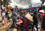 Cháy kho hàng gần chợ Vinh: Tiểu thương liều mình giải cứu hàng hóa