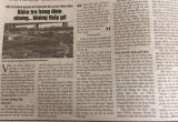 Vụ doanh nghiệp đổ trộm bùn đất ra bãi sông Hồng: Công an quận Hoàng Mai được giao điều tra, xác minh làm rõ