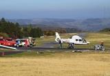Máy bay lao vào đám đông, 11 người thương vong