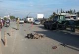 Kéo lê nạn nhân gần 50m rồi bỏ chạy, tài xế xe ben bị người dân truy đuổi