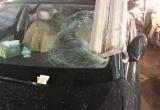 """""""Thần chết"""" đồ sập xuống đường, xế hộp Audi bị vạ lây"""