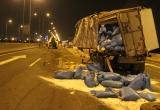 Tài xế ngủ gật, xe tải tông nhau lật nhào trên đường cao tốc