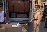 Quảng Ninh: CSGT liên tiếp bắt giữ các xe tải chở hàng không rõ nguồn gốc