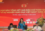 """Gần 700 tác phẩm tham dự giải báo chí toàn quốc """"Vì sự nghiệp giáo dục Việt Nam"""" 2018"""