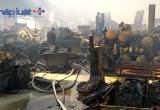 Cảnh hoang tàn sau vụ cháy trong KCN Ngọc Hồi