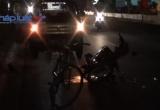 Bình Dương: Xe máy tông xe đạp, 1 người nguy kịch