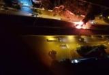 Clip - Hà Nội: Xe giường nằm cháy trơ khung sắt trên vành đai 3