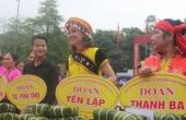 Rộn ràng Hội thi gói, nấu bánh chưng giã bánh giầy tại lễ hội Đền Hùng