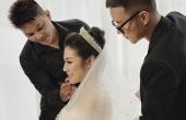 Trầm trồ trước bộ váy cưới đính hơn 20.000 viên pha lê mà Á hậu Tú Anh diện ngày trọng đại