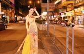 'Hoa hậu hàng không' Loan Vương mặc áo dài khoe sắc ở Hong Kong