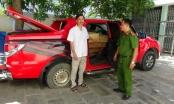 Quảng Nam: Phát hiện xe ô tô bán tải ngụy trang tinh vi vận chuyển gỗ lậu
