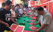 TP.HCM: Thư pháp từ thiện giúp đỡ đồng bào nghèo người Hoa