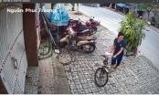 Clip: Đi xe máy nhảy trộm xe đạp