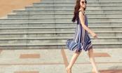 Hoa hậu Jolie Nguyễn gợi ý mặc đẹp với tông màu trầm ngày đầu thu