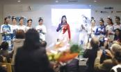 Ngọc Hân hạnh phúc khi diễn áo dài tại trụ sở UNESCO