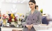 Thùy Dung diện vest cá tính đến mừng Hoa hậu Ngọc Hân làm bà chủ