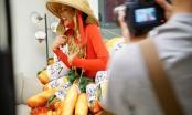 Ngỡ ngàng khi Hoa hậu H'hen Niê diện trang phục có cả rổ bánh mì
