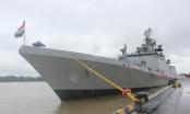 Cận cảnh tàu hộ vệ hải quân Ấn Độ cập cảng Hải Phòng