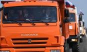 Ông Putin lái xe tải thông cầu nối đất liền Nga và Crimea